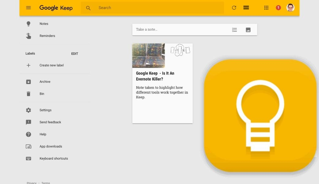 Google Keep Note Traking